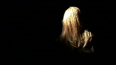 blond halloween surprise - stock footage