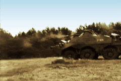BTR-80 Machine Gun 02 NTSC Stock Footage