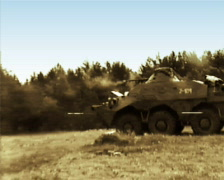 BTR-80 Machine Gun 02 PAL Stock Footage