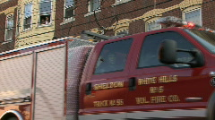 Fire Truck Low Angle Stock Footage