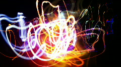 Crazy fire lights abstract neon pattern Stock Footage