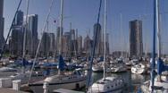 Sailboats in Marina Stock Footage
