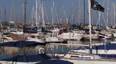 Chicago: Boats in Marina  Stock Footage