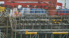 Pipes on an oil tanker Stock Footage