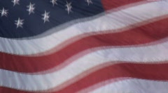 American Flag Flowing in the Wind Stock Footage