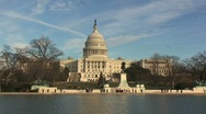 United States Capitol Building with Lake Front Stock Footage
