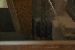Grinding flour windmill internal workings Stock Footage