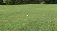 Man Playing Golf Stock Footage