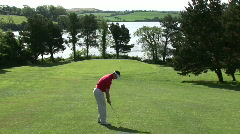 Person Playing Golf Stock Footage
