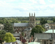 Oxford aerial view - stock footage