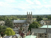Stock Video Footage of Oxford aerial view