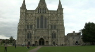 Stock Video Footage of Salisbury Cathedral front