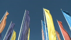 Colorful banners waving to the wind Stock Footage