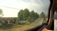 Netherlands train footage Stock Footage