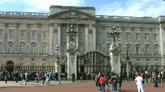 Buckingham Palace London England UK - stock footage