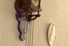 old clock pendulum, time, wall - stock footage