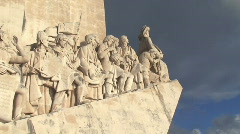 Monument to the discoveries in Lisbon Stock Footage
