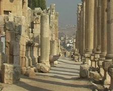 Jerash cyty view Stock Footage