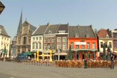 People Walking, Dutch Town Center Stock Footage