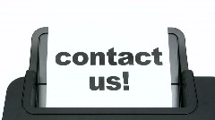 Printing Contact Us Stock Footage