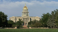 Colorado State Capital In Denver Stock Footage