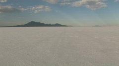 Bonneville Salt Flats car Utah M HD Stock Footage
