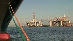 Ship rig pan Stock Footage