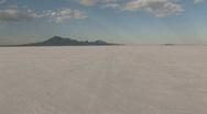 Speeding on Bonneville Salt Flats away Utah M HD Stock Footage
