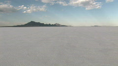 Speeding on Bonneville Salt Flats away Utah M HD Stock Footage