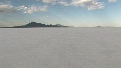 Ylinopeutta Bonneville Salt Flats päässä Utah M HD Arkistovideo