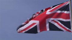 British Flag Stock Footage