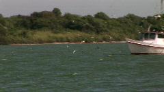 Fishing boat pan Stock Footage