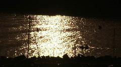 Sunset over the Costa Brava Stock Footage