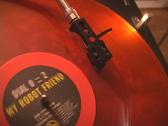 Gramophone deck and LP vinyl  Stock Footage