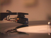 Gramophone deck and LP vinyl  Stock Footage