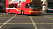 Stock Video Footage of Time lapse of traffic in Oxford Circus box junction in London England UK