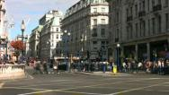 Stock Video Footage of Time lapse of pedestrians buses and traffic crossing Regent Street in London.