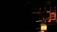London traffic at night - stock footage
