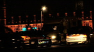 London traffic at night Stock Footage