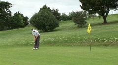 Golf Putt Shot Stock Footage