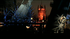 London at Christmas time Stock Footage