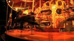 Carousel close up Stock Footage