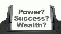 Printing Power Success Wealth Stock Footage
