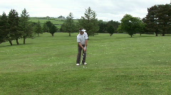 Man Playing Golf Stock Footage
