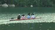 Stock Video Footage of Taiwan group paddles in kayak