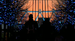 London Eye at Christmas time Stock Footage
