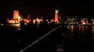 London at night Stock Footage