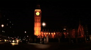 London traffic at night Stock Footage