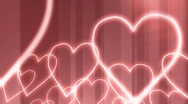 Hearts rolling in Stock Footage