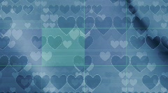 Retro conservative hearts background Stock Footage